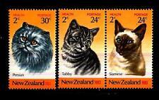 NEW ZEALAND - NUOVA ZELANDA - 1983 - Pro sanità dell'infanzia - Razze di gatti