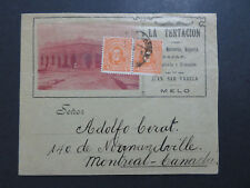 Uruguay 1915 Cacheted Commercial Cover to Canada w/ Letter - Z8142