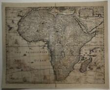 AFRICAN CONTINENT 1652 HENRY SEILE UNUSUAL ANTIQUE ORIGINAL COPPER ENGRAVED MAP