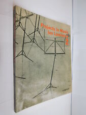 Projects In Music 2 by Ian Lawrence PB 1968 textbook teaching music