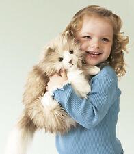Folkmanis mano muñeca mano juego muñeca Tenialas gato   Fluffy Cat Puppet