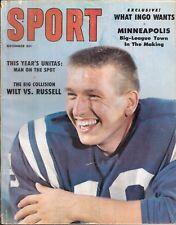December 1959 Sport Magazine Johnny Unitas Baltimore Colts HOF Ingemar Johansson