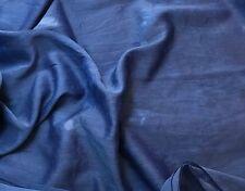 "Silk/Cotton Voile Batiste Fabric Hand Dyed LAPIS BLUE 54"""