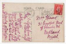 Bristol Postmark 28 Aug 1938 Empire Exihibiton Glasgow Slogan 826b
