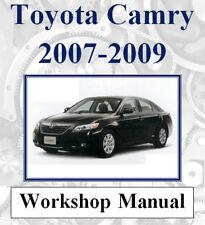 TOYOTA CAMRY 2007 2008 2009 WORKSHOP SERVICE REPAIR MANUAL DIGITAL DOWNLOAD