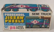 VINTAGE Whitman PRESCHOOL JIGSAW PUZZLE Ace Semi Truck 24 LARGE PIECES COMPLETE