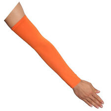 1pair Orange Outdoor UV Sun Protection for Cycling Basketball Arm Sleeves Cover