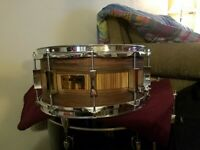 "Pork Pie USA Maple Snare Drum - 6.5"" x 14"" Rosewood-Zebrawood - Used"