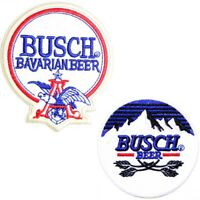 Patch Iron on Embroidered Applique For BUSCH Beer Advertising Logo Sign Badge