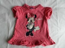Disney Girls Pink Minnie Mouse Short Sleeve T-Shirt 100% Cotton Size 4-5 Years