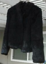 Nice Gently Used  Vintage Black Rabbit Fur Coat, EXCELLENT CONDITION
