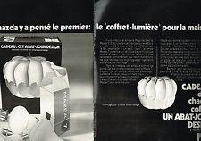 PUBLICITE  1971   MAZDA   abat-jour DESIGN  (2 PAGES)