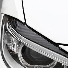 2Pcs Carbon Fiber Headlight Eyebrow Cover Trim Sticker For BMW 3 Series F30 TS