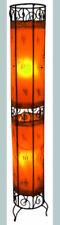 Plain Moroccan Henna Floor Lamp- Round Tube - orange130CM