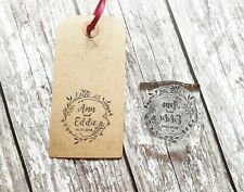 WEDDING STAMP, PERSONALISED BESPOKE INITIALS NAME & DATE, SAVE THE DATE