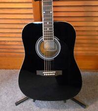 2017 Johnson JG610 Dreadnought Beginner Acoustic Guitar Black Brand New !!