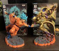 Banpresto Dragon Ball Super: Super Saiyan God SS Son Goku & Golden Frieza (set)