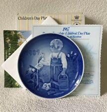 Bing & Grondahl B&G Copenhagen Childrens 1987 Little Gardeners Collector Plate