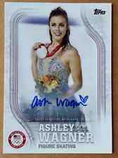 2018 Ashley Wagner Topps Olympic Figure Skater USA Autograph Card Signed 31/60