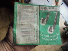 Dépliant Grand Prix de Paris pour Ancien Billet de Loterie  Nationale 1951