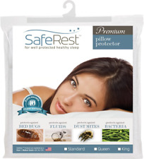 SafeRest Premium Hypoallergenic Bed Bug Proof Zippered Waterproof Pillow Protect