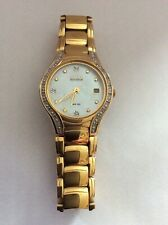 CITIZEN ECO DRIVE LADIES WATCH (Gold plated) Used WR100