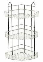 3 Tier Chrome Bathroom Shower Hanging Corner Rack Caddy Shelf Stainless Steel