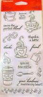 Latte Love Coffee & Tea Clear Acrylic Stamp Set by Fiskars Stamps NEW!