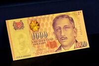 "★★ SINGAPOUR / SINGAPORE : BILLET POLYMER  "" OR "" DU 1000 DOLLARS ★★"