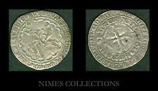 MONNAIE MEDIEVALE DOUBLE GROS DES FLANDRES LOUIS II de MALE  1346/ 1384   N° 11