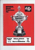 Texaco Cup Group 3 Football Programme 1974/75