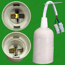 Blanco Rosca Edison es E27 bombilla de luz de soporte de conexión con bloque de terminales M10