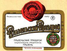 ETICHETTA -  Plzeňský Prazdroj  12% birra chiara - Boemia occidentale - N. 28
