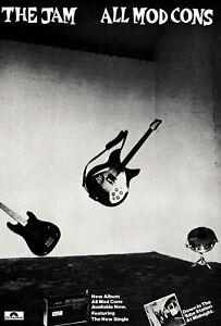 JAM POSTER: ALL MOD CONS. Size large-A2 repro. Paul Weller, Mod, Punk.