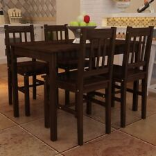 5pcs Dining Set Wooden Table Chairs Kitchen Dining Room Furniture Multi Colours