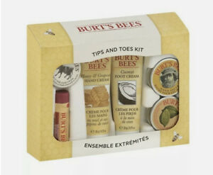 Burt's Bee Body Care Tips and Toes Kit NEW BOX