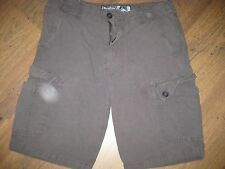 MENS WEARFIRST SIZE 34 KHAKIS ARMY GREEN CASUAL HUNTING CARGO SHORTS EUC NICE
