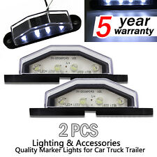 2X 10-30V 12V 24V LED LICENSE NUMBER PLATE LIGHT LAMP TRUCK TRAILER WATERPROOF