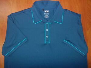 Adidas Golf Coolmax Puremotion Stretch Piped Golf Polo Shirt L ~NEW~