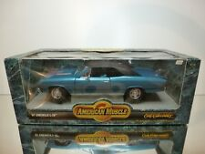ERTL CHEVROLET CHEVELLE SS L-78 1967 - BLUE  1:18 - VERY GOOD CONDITION IN BOX