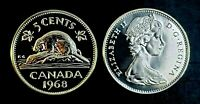 Canada 1968 Proof Like Gem Five Cent Nickel!!