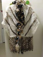 Fur Cape Size L/XL New With Pockets Rabbit Fur