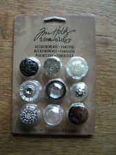 TIM HOLTZ IDEA-OLOGY ACCOUTREMENTS - FANCIFUL - BUTTONS BNIP **LOOK**