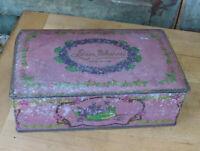 1920s Louis Sherry New York CanCo Tin Metal Hinged Chocolate Box Lavender 1 lb