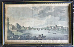 19th Century Engraving | British History | View of Putney and Fulham | London