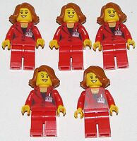 LEGO LOT OF 20 NEW RED FEMALE MINIFIGURE TORSOS WITH DRESS GIRLS