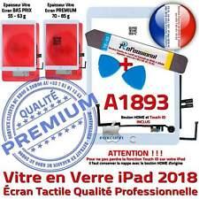 KIT Vitre Tactile iPad 6 - 2018 A1893 Blanc Écran Verre PREMIUM Adhésif Assemblé