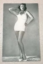 Vintage Antique 1930' Erotic Actress Lady Girl Woman Mailing Postal Card Old