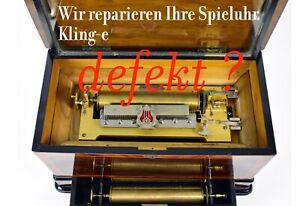 Kostenvoranschlag für Revision Reparatur einer Walzenspieldose Musikautomat