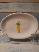 Rae Dunn Piña Pineapple Side Dish Small Oval Plate Artisan Collection By Magenta